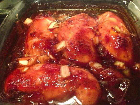Sauvignon Blanc Baked Chicken Teriyaki